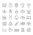 childcare linear icons set vector image vector image
