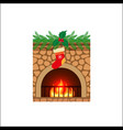 christmas holiday home scene vector image vector image