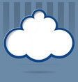 Cloud for your text vector image
