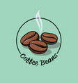 coffee bean logo cafe emblem coffee label vector image vector image