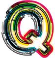 Colorful Grunge font LETTER Q vector image