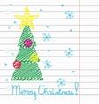 Crayon Merry Christmas vector image vector image