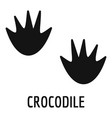crocodile step icon simple style vector image vector image