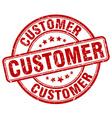 customer red grunge round vintage rubber stamp vector image vector image