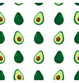 cute beauty avocado seamless pattern vector image