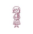 cute cartoon kid child clipart vector image