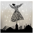 dervishes and istanbul vector image