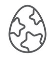 easter egg line icon easter and food egg sign vector image vector image