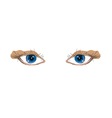 eyes hand drawn vector image vector image