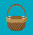 flat basket icon isolated on color background vector image vector image