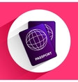 flat passport icon for travel on background vector image vector image