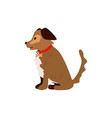 flat sitting dog pet icon vector image vector image