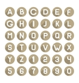Flat Style Alphabet Icons Set vector image vector image