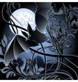 Flying bat vector image vector image
