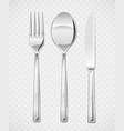 fork spoon knife set vector image vector image
