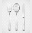 fork spoon knife set vector image