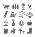 Gardening icons vector image vector image