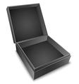 Gift Box Black vector image vector image