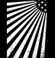 grunge black and white united states of america vector image vector image