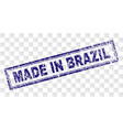 grunge made in brazil rectangle stamp vector image vector image
