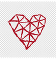 heart on transparent background valentines day vector image vector image