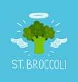 heaven broccoli concept st broccoli vector image vector image