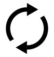 icon swap resumes spinning arrows in circle vector image vector image