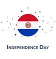 independence day of paraguay patriotic banner vector image