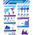 INFOGRAPHIC DEMOGRAPHICS 9 PURPLE vector image vector image