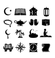 Islam icons set black vector image