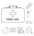 isolated object of pharmacy and hospital icon set vector image vector image