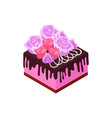 isometric cake vector image