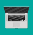 laptop top view mobile computer notebook vector image vector image