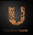 letter u logo gold dots alphabet logotype vector image vector image