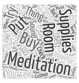 Meditation Supplies Word Cloud Concept vector image vector image