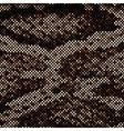 Mosaic Snake Skin vector image vector image