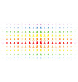 mourning ribbon spectrum halftone pattern vector image vector image