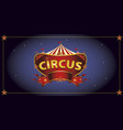 night circus sign vector image vector image