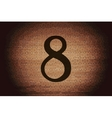 number Eight icon symbol Flat modern web design vector image