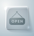 open label sign Glass square icon vector image