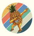 pineapple dabbing retro vector image vector image