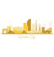 quezon city skyline golden silhouette vector image vector image
