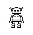 robot mascot mechanical technology artificial vector image