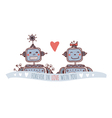 robot with heart forever in love vector image