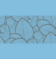 seamless leafs pattern blue and brown colors vector image vector image