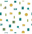 Seamless pattern - office thin line icons vector image