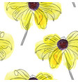 seamless pattern with flower rudbeckia vector image vector image
