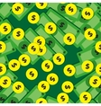 Seamless pattern with money - banknotes and coins