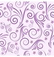 seamless swirl purple vector image