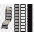 set of film strips of vector image vector image